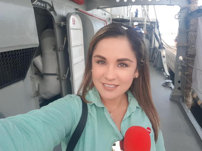 """La periodista y conductora de """"Las Noticias TVP""""  Nallely Araujo es galardonada con la medalla """"Lore de la Vega"""""""