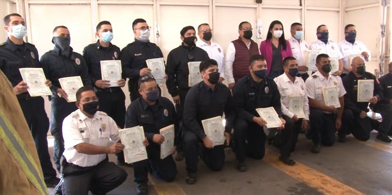 Bomberos de Cajeme los primeros certificados en Sonora