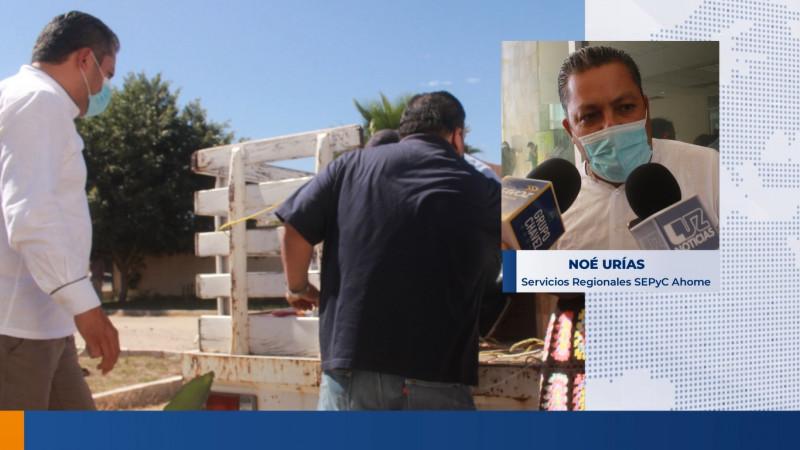 Entrega Sepyc Kits de limpieza a 10 instituciones educativas de Ahome