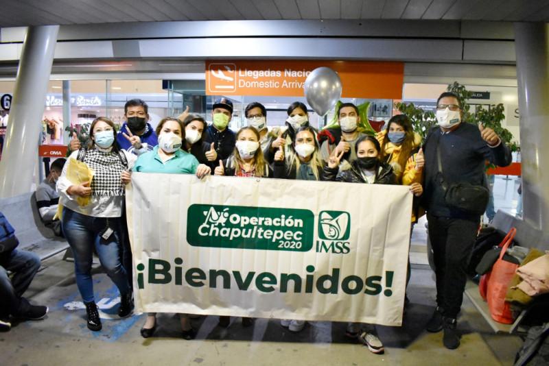 De regreso a casa, después de participar en Operación Chapultepec