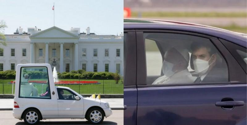 """El papa Francisco hace una visita histórica a Irak y viaja en un vehículo blindado en vez del """"papamóvil"""""""