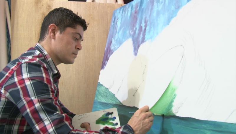 """""""Torete"""" es un joven apasionado por el arte"""
