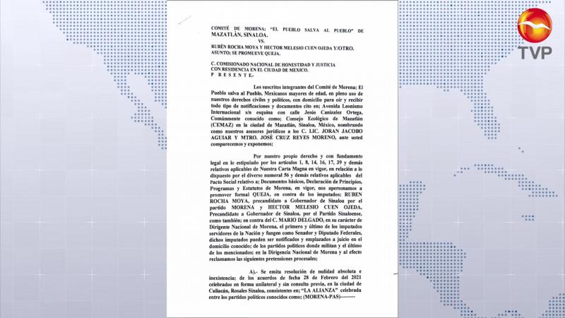 Piden en Mazatlán dar marcha atrás a alianza MORENA- PAS