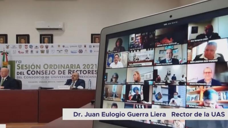 En Sesión Ordinaria 2021 de CUMex se materializaron convenio con la UAS