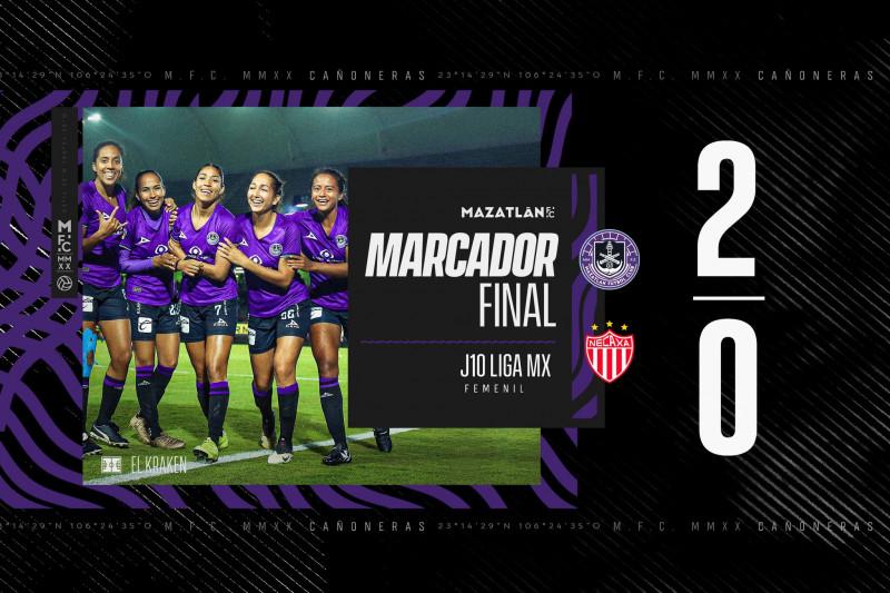 Mazatlán Femenil consigue los tres puntos frente a las Centellas de Necaxa
