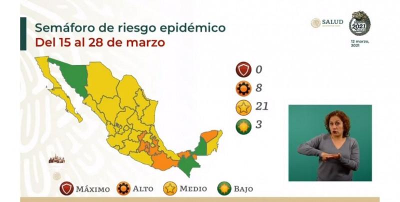 Sonora pasa a color verde y Sinaloa se queda en amarillo en el siguiente Semáforo de Riesgo Covid