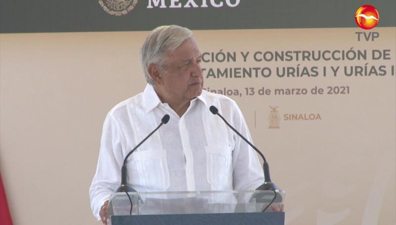 Destaca AMLO baja en incidencia delictiva en Sinaloa