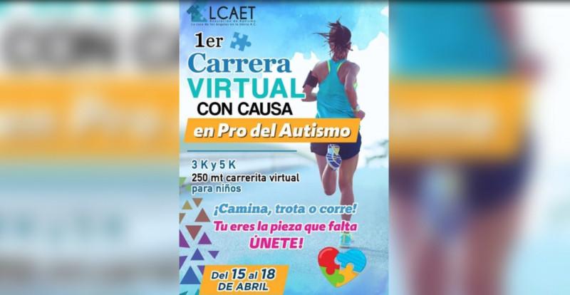 Invitan a carrera virtual para conmemorar el Día del Autismo