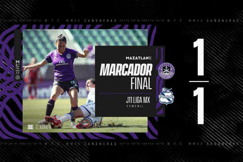 Mazatlan Femenil rescata el empate al último minuto ante Puebla