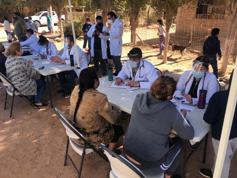Llega Brigada médica la comunidad Luis Echeverria en Ahome