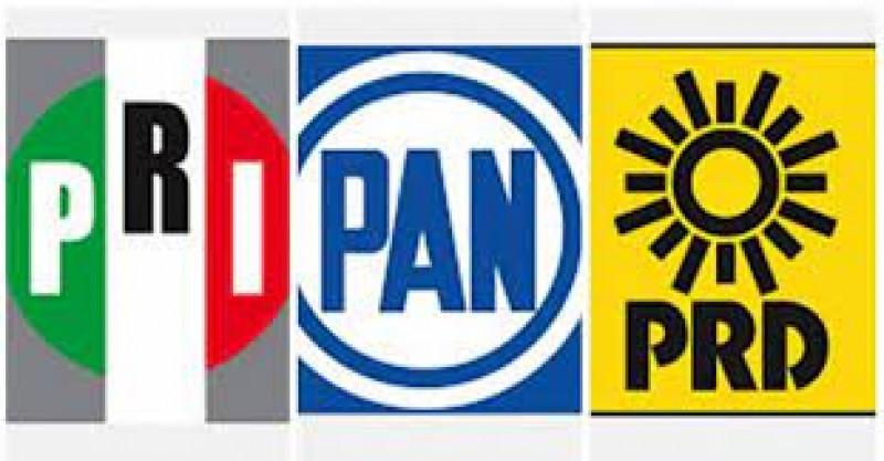 PRI, PAN y PRD hacen cambios en la coalición