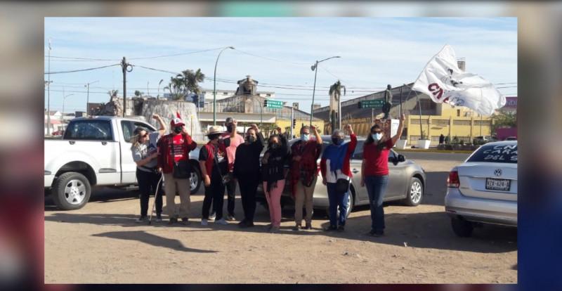 Marchan maestros sonorenses de la CNTE rumbo al Zócalo