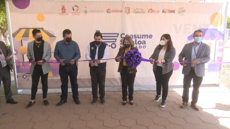 """Inauguran en Ahome el programa económico """"Mercado Consume Sinaloa"""""""
