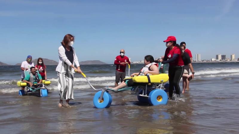 Personas con discapacidad podrán ingresar a la playa con equipo especial