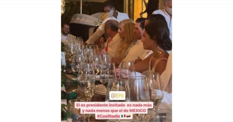 """Enrique Peña Nieto """"reaparece"""" en una boda en República Dominicana"""