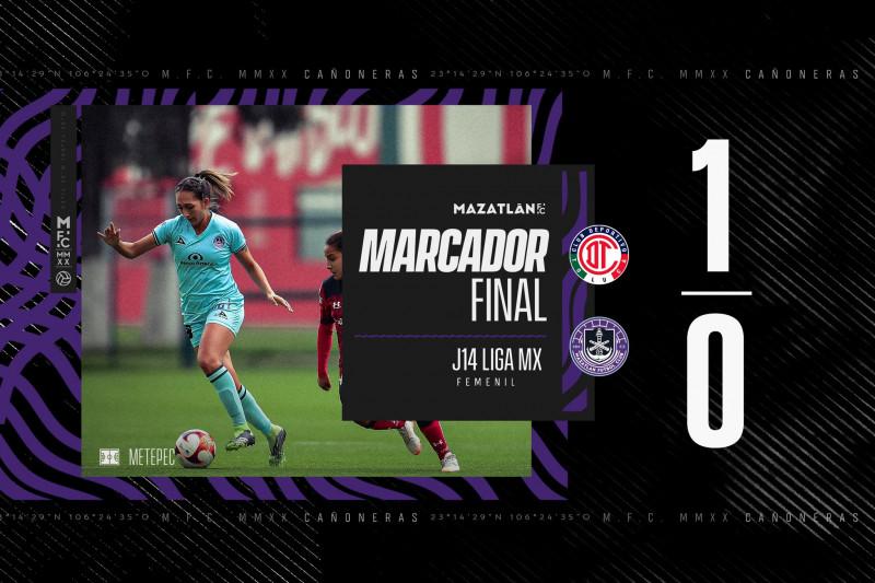 Toluca vence por la minima a las cañoneras de Mazatlan FC