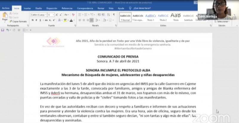 Activación de Protocolo ALBA sin denuncia de por medio, pide la Red Feminista en Sonora