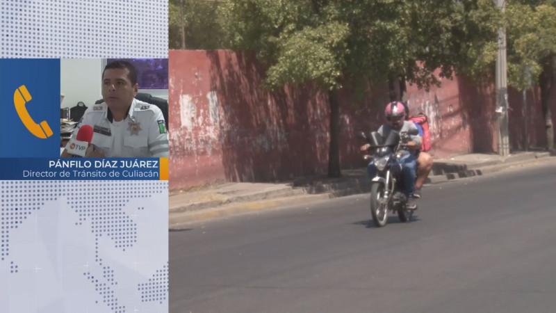 Acondicionarán espacios de estacionamiento para motocicletas en el centro de Culiacán