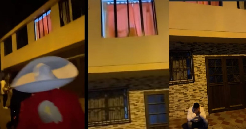 Joven le lleva serenata a su novia y la mira por la ventana teniendo relaciones con su amante (video viral)