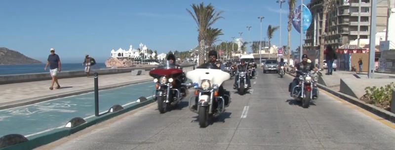 Motociclistas no olvidan la tradición y se vienen de fin de semana a Mazatlán