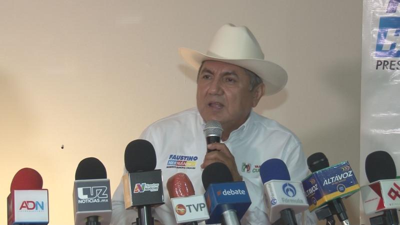 Vamos a reordenar el crecimiento de Culiacán: Faustino Hernández