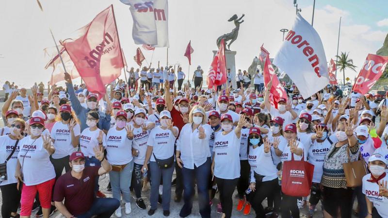 En su visita a Mazatlán, Eneyda Rocha Ruizt tuvo el respaldo de más de 300 mujeres de diferentes sectores
