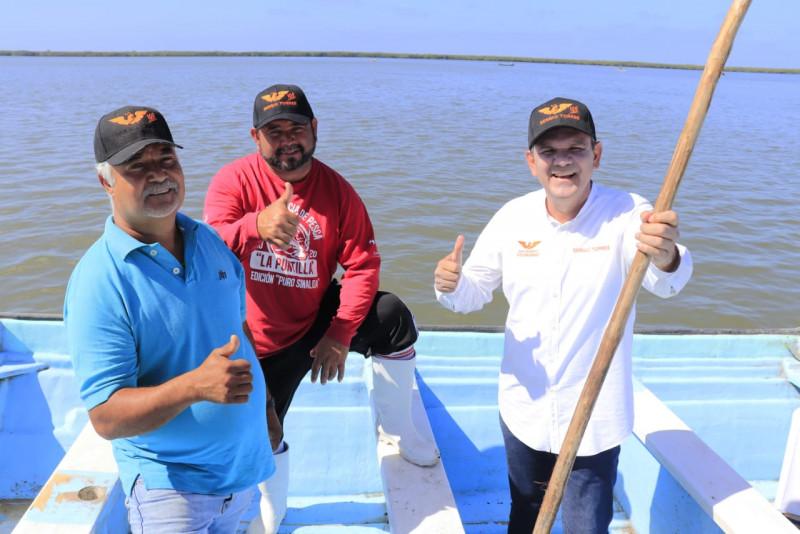 Pescadores denuncian que Rocha y morenistas los tienen en la pobreza: Sergio Torres