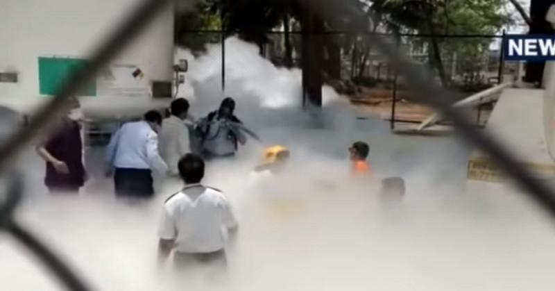 22 hospitalizados de Covid-19 mueren en hospital por una fuga en tanque de oxígeno (video)