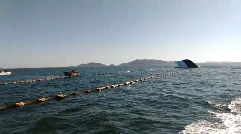 Se hunde barco pesquero al chocar con el Ferry en Topolobampo