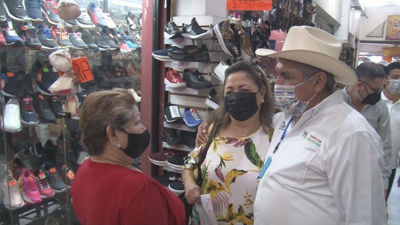 Vamos a reactivar la economía y rescatar la dinámica del centro de Culiacán: Faustino Hernández