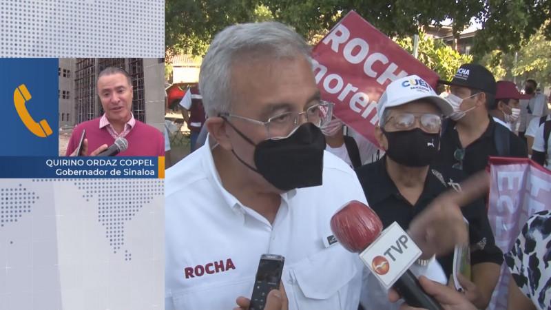 Niega Quirino acusaciones de Rocha Moya