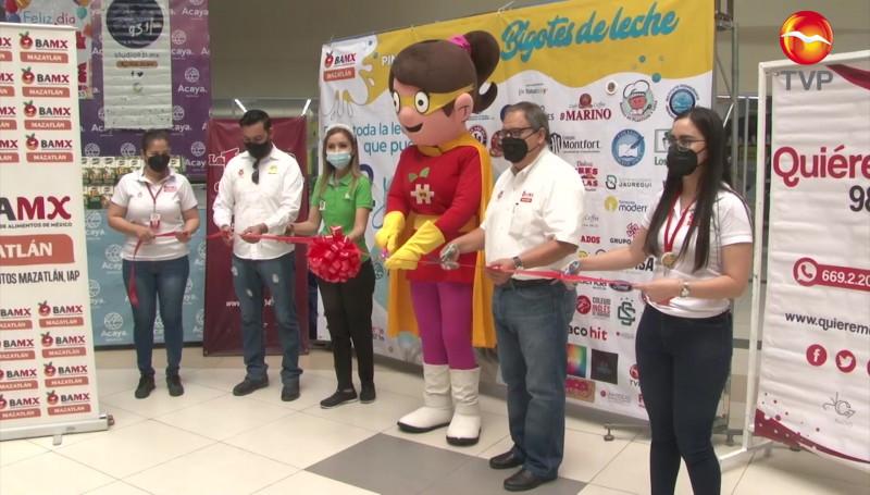 Puede apoyar al Banco de Alimentos de Mazatlán donando litros de leche