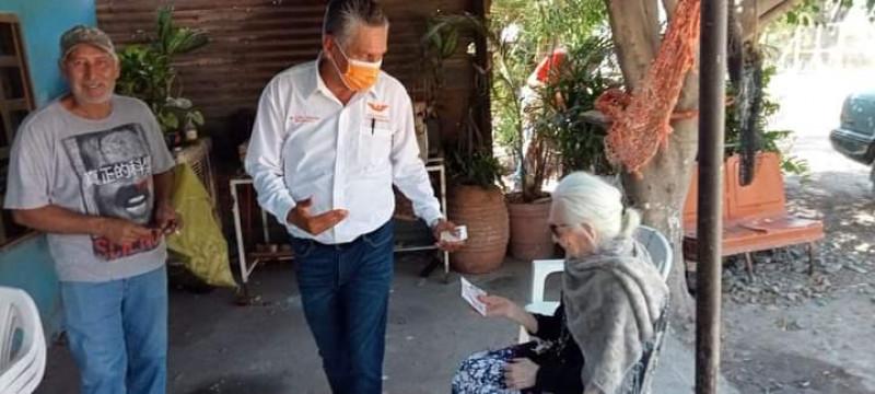 Visita zona rural candidato de Movimiento ciudadano a la presidencia municipal de Ahome