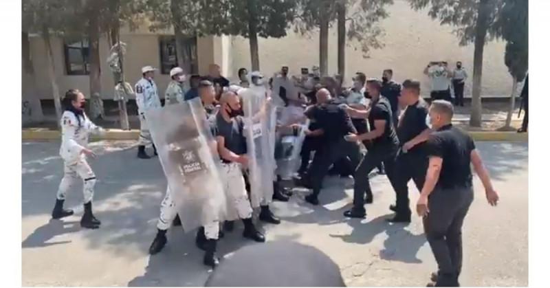 Cadetes de la Guardia Nacional se vuelven virales por pelearse en la academia (video)