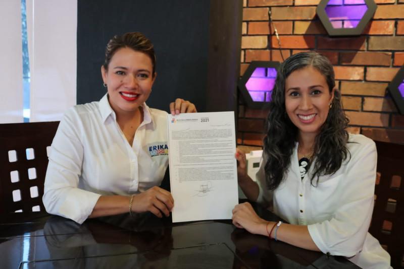 Erika Sánchez es la primera candidata en Sinaloa en firmar el Pacto por la Primera Infancia