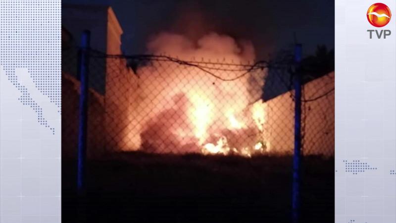 Moviliza a Bomberos incendio en baldío de la Palos Prietos