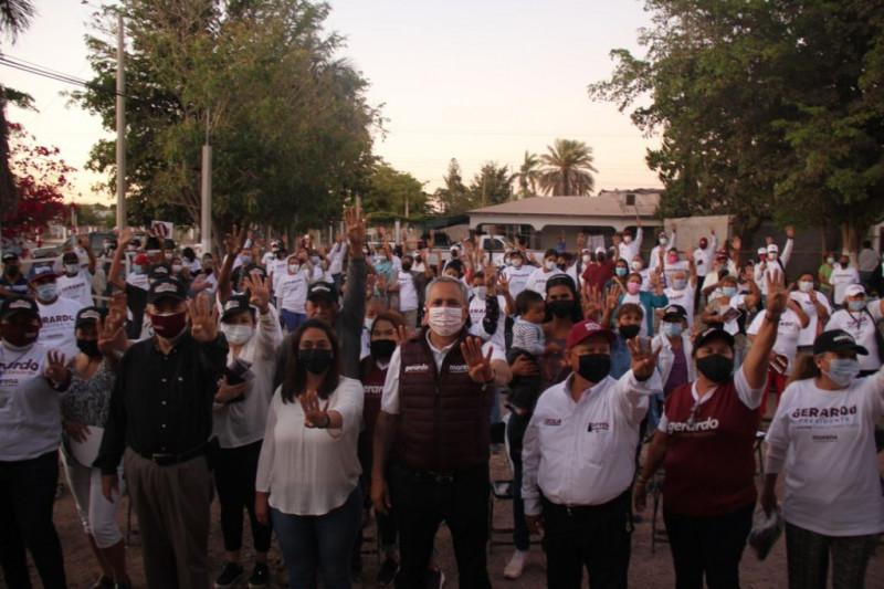 """""""Simpatizantes de 8 comunidades de la sindicatura central Mochis, arropan a Gerardo Vargas Landeros"""""""