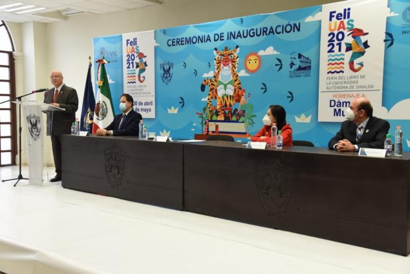Inaugura Rector la XXVI Feria del Libro de la UAS 2021
