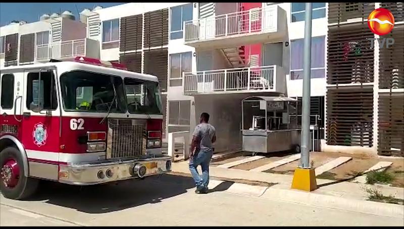 Se incendia vivienda en Higueras Residencial