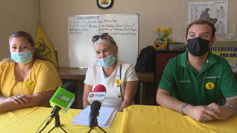 PRD en Ahome señala que experredista ya no formaban parte del partido