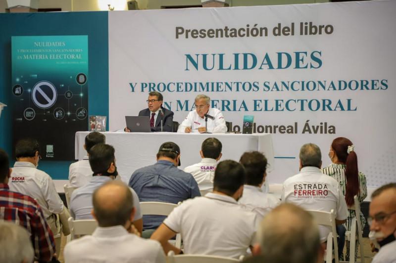 Libro de Ricardo Monreal es una guía para defender la democracia: Rocha
