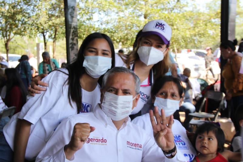 Visita Gerardo Vargas Landeros comunidades de el Carrizo