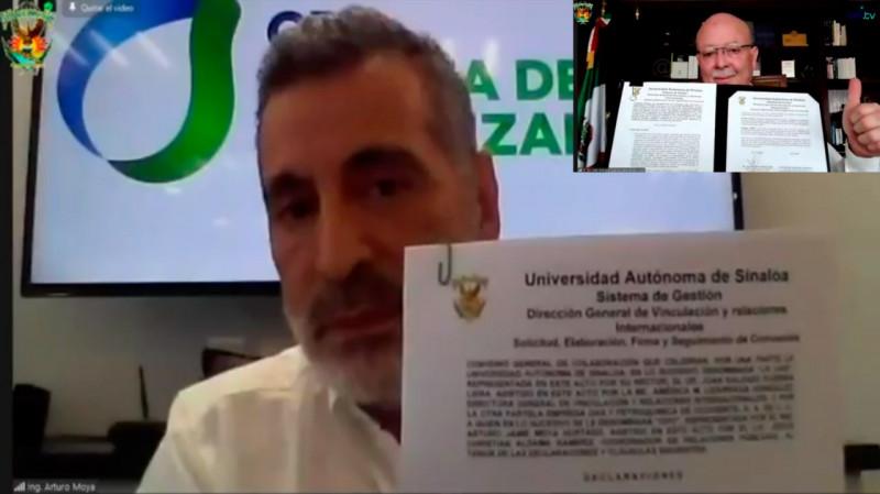 Firman convenio de colaboración UAS y GPO planta de fertilizantes