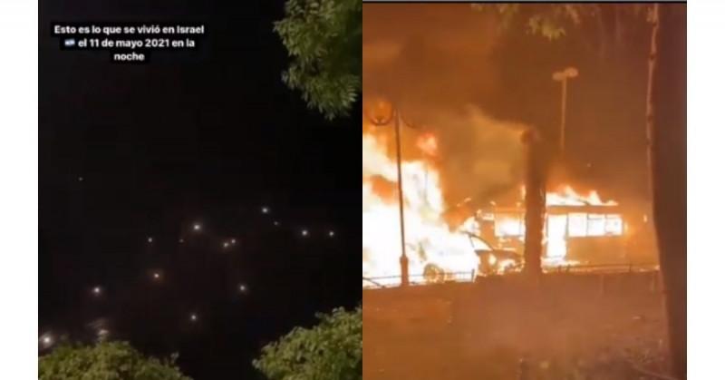 Mexicana en Israel graba bombardeos y destrozos de los misiles palestinos (video)