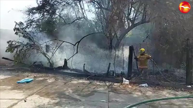 Se incendia vivienda en la colonia Jesús García