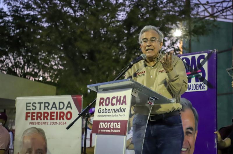 Rocha será un gobernador amigo que genere bienestar con obras de contenido social