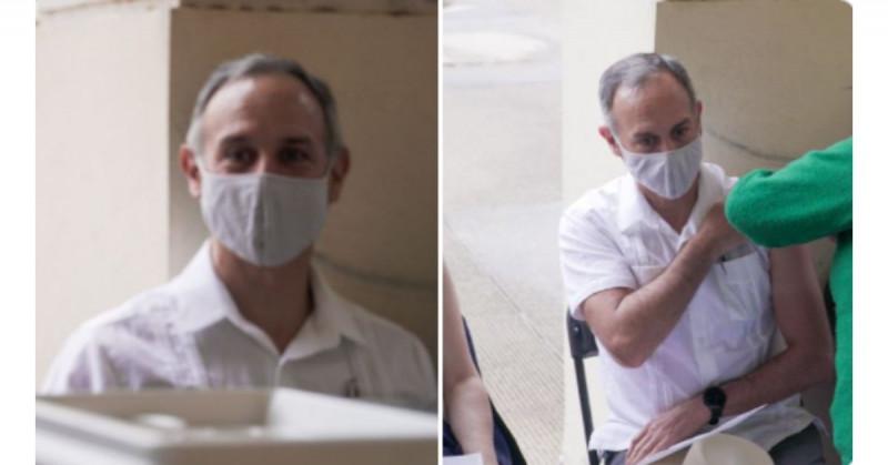 López-Gatell se vacunó este jueves contra Covid-19 con la fórmula de Pfizer