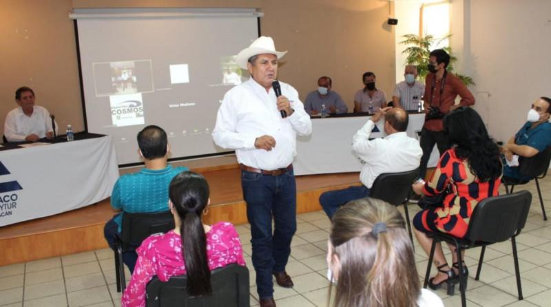 Apoya Canaco Culiacán y la Unión de Locatarios del Centro a Faustino Hernández