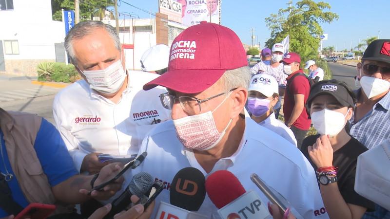 Voto cruzado no representa la 4 transformación en Ahome: Rubén Rocha