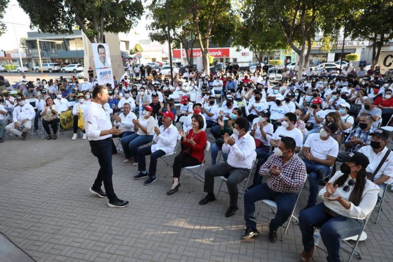 A promover la paz y a decidir con total libertad, exhorta Mario Zamora